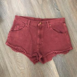 UO Distressed denim shorts